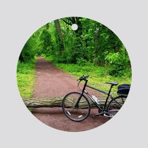 Bike Trail Round Ornament